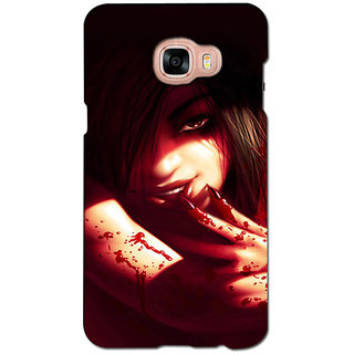 instyler PREMIUM DIGITAL PRINTED 3D BACK COVER FOR SAMSUNG GALAXY C7 3DSGC7DS-10092