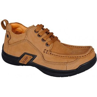 Red Chief Laced Beige Casual Cum Formal Shoes
