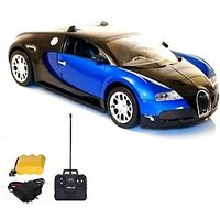 Bugatti Veyron Rechargeable Remote Control Car (Black-Blue, Black-Red)