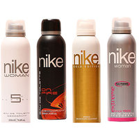 Nike Deodorants Gold Edition, Fission For Men And 5th Element, Trendy  For Woman 200ml Each (Pack Of 4)