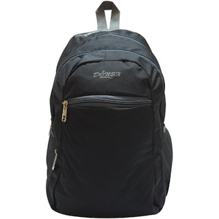 Donex 12 L Polyester Kool Light weight College/Exam Backpack Black RSC01388