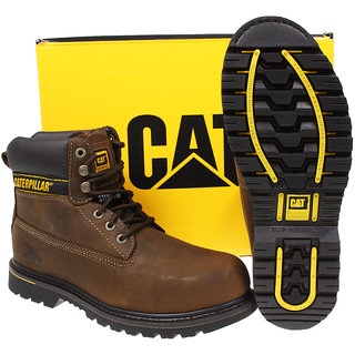 New 100% Genuine Caterpillar Mens Safety Work Shoe Boot Steel  Toe Holton 6 size available at ShopClues for Rs.3550
