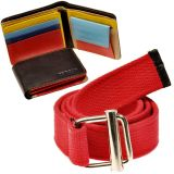 Buy Premium Gents Leather Wallet n Get Canvas Casual Belt Free