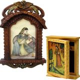 Buy Wooden Jharokha Shape Photo Frame N Get Key Holder Box Free
