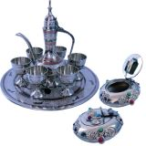 Buy White Metal Antique Wine Set N Get Gemstone Ash Tray Free