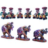 Buy Rajasthani Musician Set N Get Paper Mache Handicraft Free
