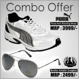Puma Aron Shoe And Roxton Aviator Style Sunglass