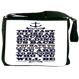 Snoogg To Become Who You Will Be Digitally Printed Laptop Messenger  Bag