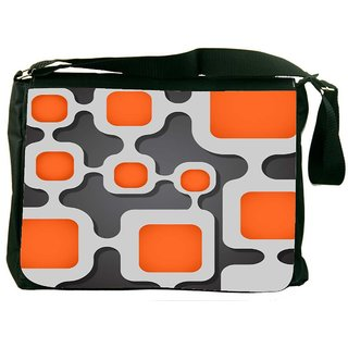 Snoogg Digital Tube Digitally Printed Laptop Messenger  Bag