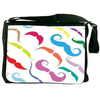 Snoogg Types Of Movember Digitally Printed Laptop Messenger  Bag