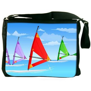 Snoogg Sail Board Sky 2561 Digitally Printed Laptop Messenger  Bag