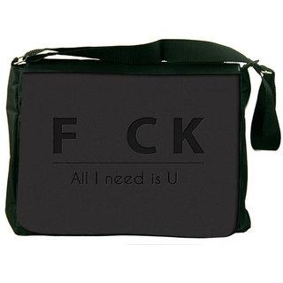 Snoogg All I Need Is U Designer Laptop Messenger Bag