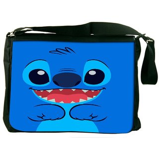 Snoogg Cute Blue Inface Designer Laptop Messenger Bag