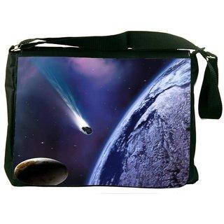Snoogg Space Trip Digitally Printed Laptop Messenger  Bag