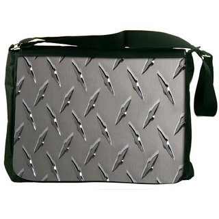 Snoogg Grey Steel Designer Laptop Messenger Bag