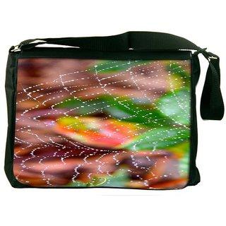 Snoogg Spider Web Designer Laptop Messenger Bag