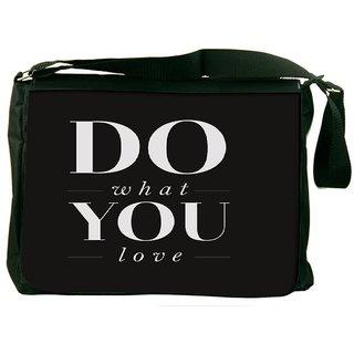 Snoogg Do What You Love Designer Laptop Messenger Bag