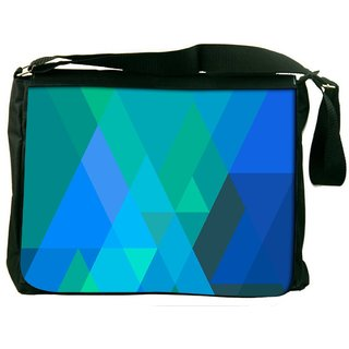 Snoogg Stripes Forming Rhombuses 2796 Digitally Printed Laptop Messenger  Bag