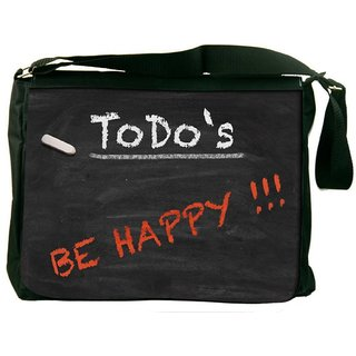 Snoogg Todo Happy Graphic 2803 Digitally Printed Laptop Messenger  Bag