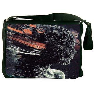 Snoogg Redesign Digitally Printed Laptop Messenger  Bag