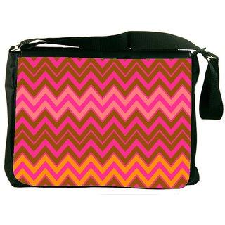 Snoogg Wave Patterns DesignerLaptop Messenger Bag