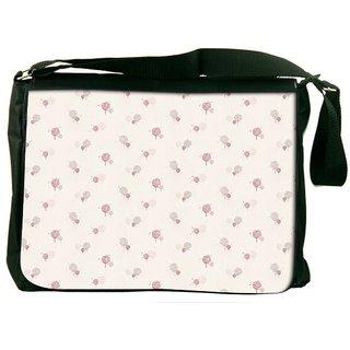 Snoogg Splash Flower Pattern Designer Laptop Messenger Bag