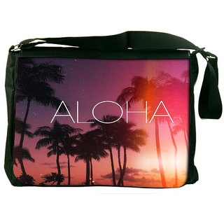 Snoogg Aloha Designer Laptop Messenger Bag