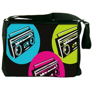 Snoogg Boombox Colourful Designer Laptop Messenger Bag