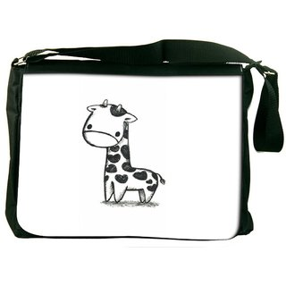 Snoogg Funny Giraffe Designer Laptop Messenger Bag