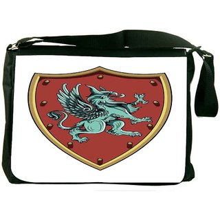 Snoogg Crests Vector Element Designer Laptop Messenger Bag