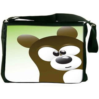 Snoogg Cute Bear Character Designer Laptop Messenger Bag