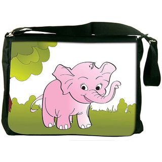 Snoogg Cute Big Elephant Background Digitally Printed Laptop Messenger  Bag