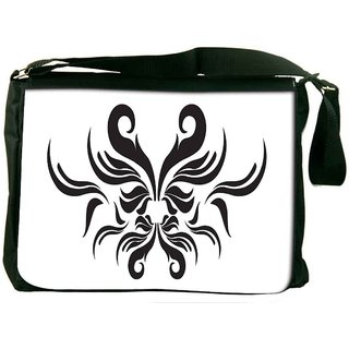 Snoogg Decor Swirl Elements Illustration Digitally Printed Laptop Messenger  Bag