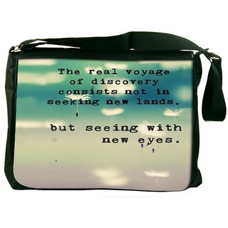 Snoogg Seeing With New Eyes Designer Laptop Messenger Bag