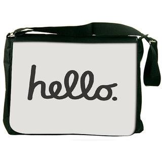 Snoogg Had Me At Hello Designer Laptop Messenger Bag