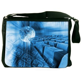Snoogg Abstract Internet Background Digitally Printed Laptop Messenger  Bag