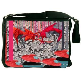 Snoogg Deer Fight DesignerLaptop Messenger Bag