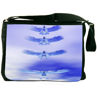 Snoogg Eagle Z Digitally Printed Laptop Messenger  Bag