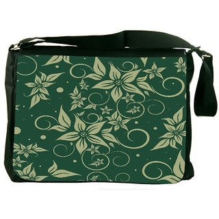 Snoogg Seamless Floral Pattern Abstract Background Designer Laptop Messenger Bag