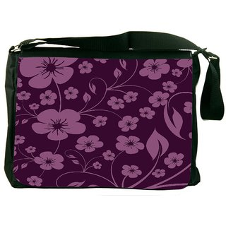 Snoogg Seamless Floral Pattern Abstract Background Designer Laptop Messenger Bag