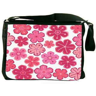 Snoogg Seamless Floral Pattern Flowers Texture Daisy Digitally Printed Laptop Messenger  Bag