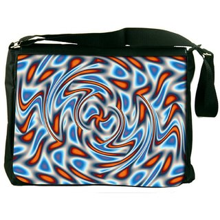 Snoogg Abstract Patterned Design Digitally Printed Laptop Messenger  Bag