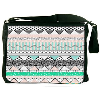 Snoogg Polka Wave Aztec Designer Laptop Messenger Bag