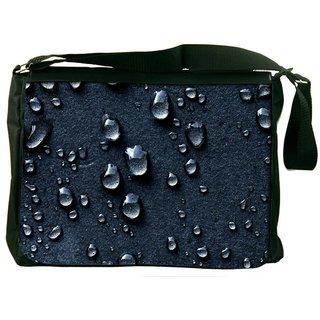 Snoogg Grey Drops Designer Laptop Messenger Bag