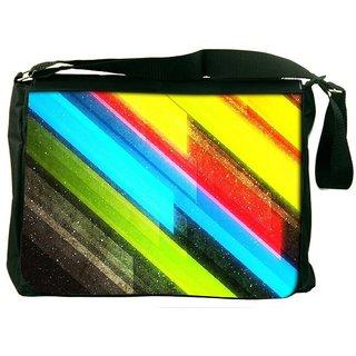Snoogg Colourful Lightning Designer Laptop Messenger Bag