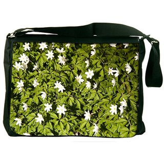 Snoogg Anemones Digitally Printed Laptop Messenger  Bag