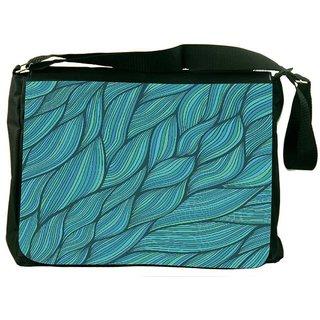 Snoogg Seamless Waves Texture Designer Laptop Messenger Bag