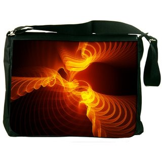 Snoogg Abstract Design Digitally Printed Laptop Messenger  Bag