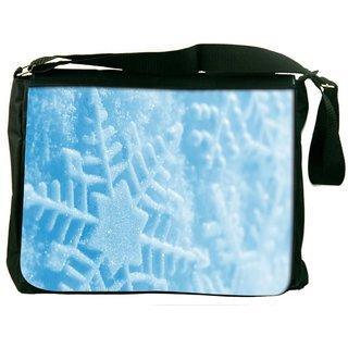 Snoogg Blue Xmas Digitally Printed Laptop Messenger  Bag