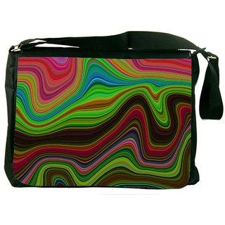 Snoogg Lava Movement 2396 Digitally Printed Laptop Messenger  Bag